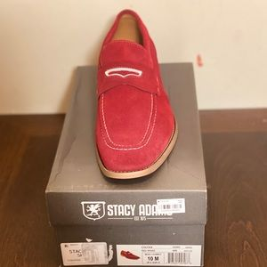 Stacy Adams red loafers